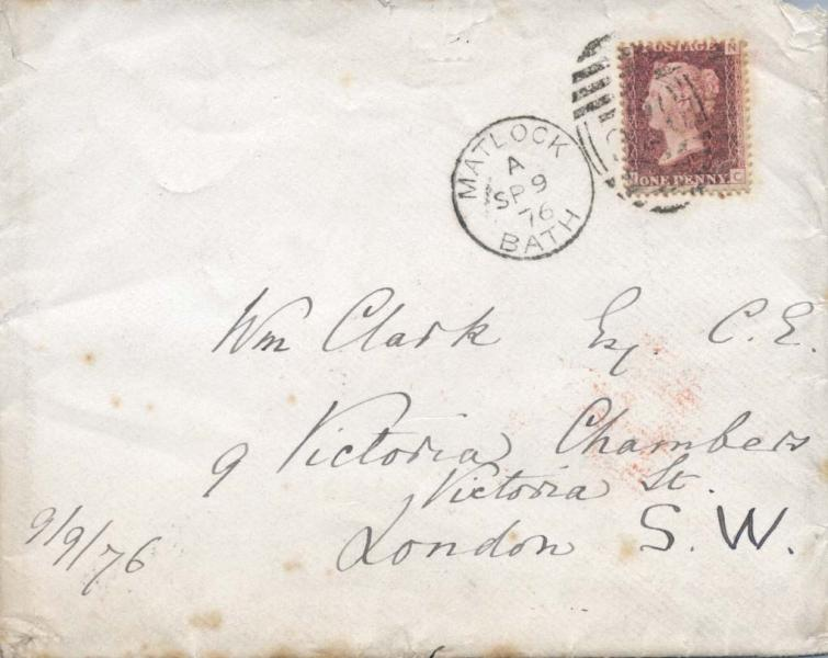 Front of envelope of letter to William Clark