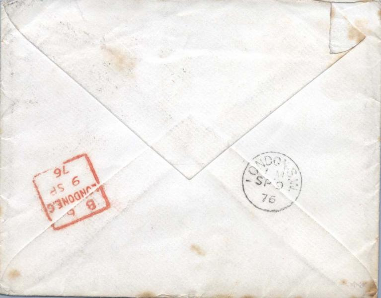 Back of envelope of letter to William Clark
