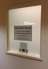 Relaxation room on the 4th floor of HSL