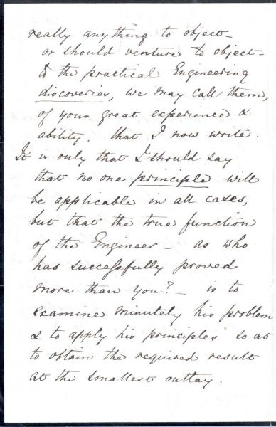 Image 2 of letter to William Clark 5 October 1872