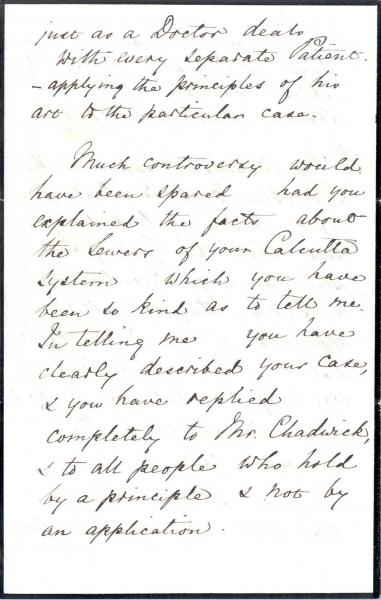 Image 4 of letter to William Clark 5 October 1872