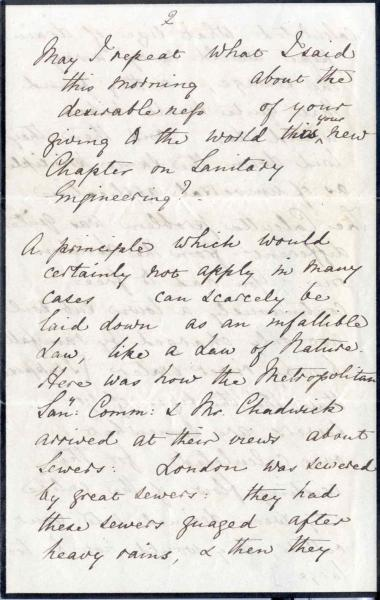 Image 5 of letter to William Clark 5 October 1872
