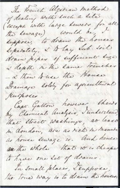 Image 7 of letter to William Clark 5 October 1872