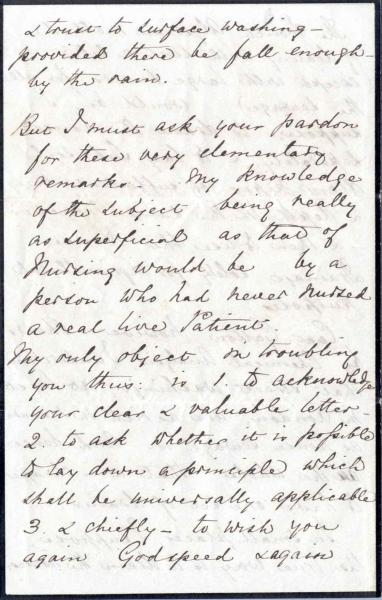 Image 8 of letter to William Clark 5 October 1872