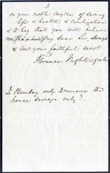 Image 9 of letter to William Clark 5 October 1872