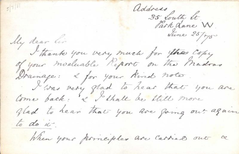 Image of page one of letter to William Clark