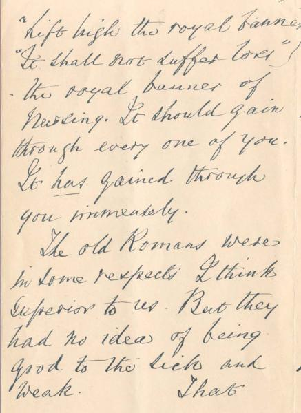 Letter To Nursing Students: 28 May 1900 - Health Sciences Library