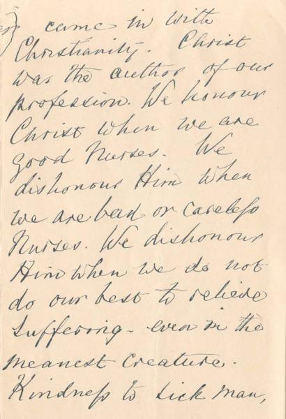 Image of letter to nursing students