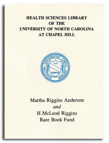 Anderson Riggins Bookplate