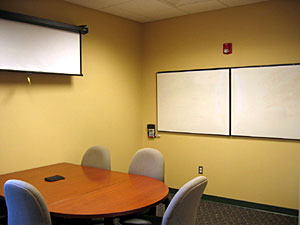 Photograph of a group study room