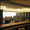 View of the journals reading area on fourth floor of the HSL