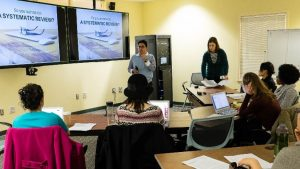 HSL librarians teaching a systematic review class