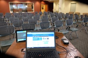 HSL Research Hub Event Space - Lecture Setup 1
