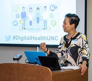 Elaine Westbrooks speaking at the Digital Health Symposium