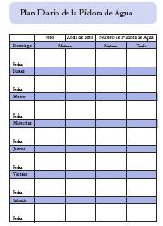 Plan Diario de la Píldora de Agua