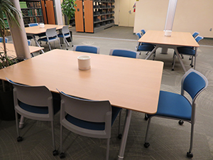 New study table in basement of HSL