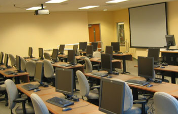 Biogen Idec Classroom with computers and seats